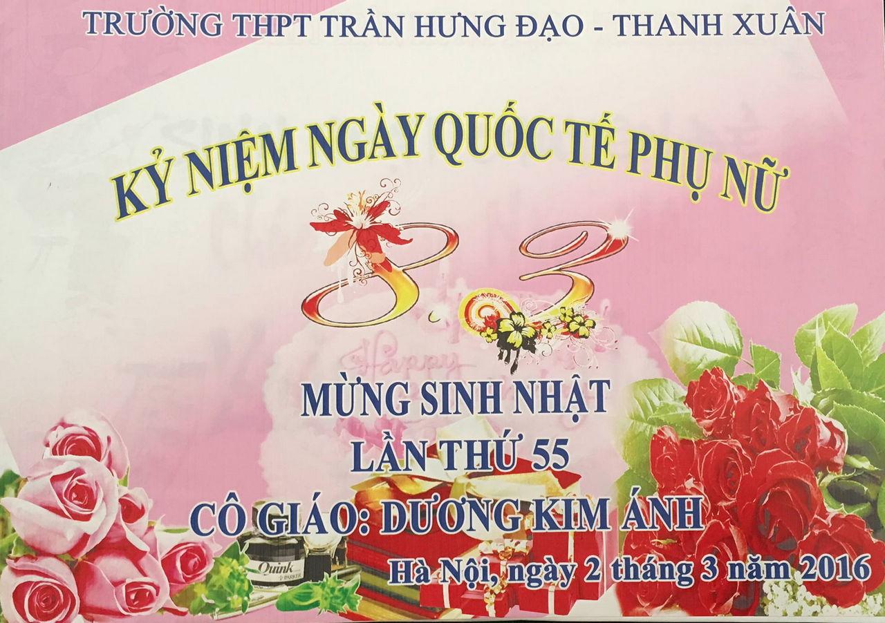 Sinh nhật lần thứ 55 của cô giáo Dương Thị Kim Ánh